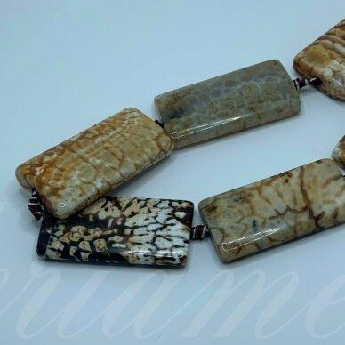 jskaa0603-stac-40x20x6 about 40 x 20 x 6 mm, rectangle shape, colourful color, agate, (leopard agate), 8 pcs.