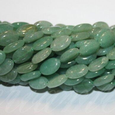 jskaav-zal-oval-12x8x4 apie 12 x 8 x 4 mm, ovalo forma, žalias avantiurinas, apie 32 vnt.