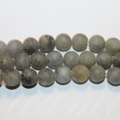 jskalab-mat-apv-10 apie 10 mm, apvali forma, matinė, labradoritas, apie 39 vnt.