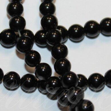 jskaon-apv-06 apie 6 mm, apvali forma, oniksas, apie 65 vnt.