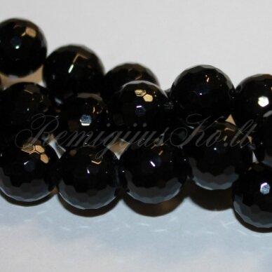 jskaon-apv-br1-04 apie 4 mm, apvali forma, briaunuotas, oniksas, apie 92 vnt.