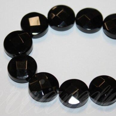 jskaon-disk-br-10x4 apie 10 x 4 mm, disko forma, briaunuotas, oniksas, apie 40 vnt.