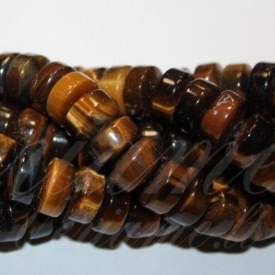 jskata-rud-ron2-02.5x4 apie 2.5 x 4 mm, rondelės forma, ruda spalva, tigro akis, apie 160 vnt.