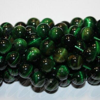 jskata-zal-apv-04 apie 4 mm, apvali forma, žalia spalva, tigro akis, apie 92 vnt.