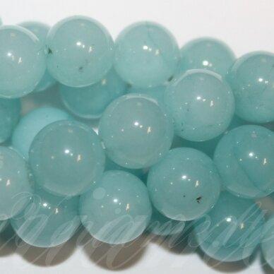 jskazy0064-apv-12 apie 12 mm, apvali forma, žydra spalva, žadeitas, apie 32 vnt.