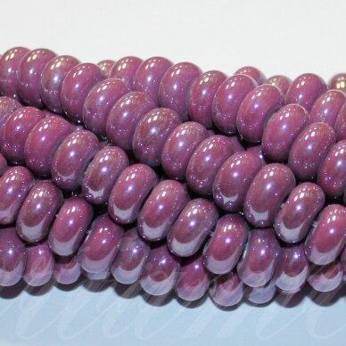 jsker0010-ron-05x10 (a3) apie 5 x 10 mm, rondelės forma, alyvinė spalva, keramikiniai karoliukai, apie 53 vnt.
