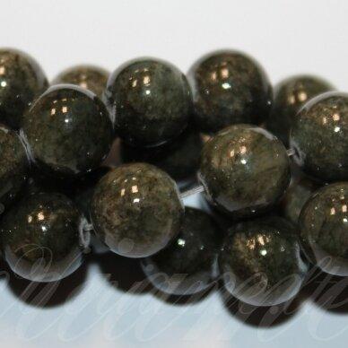 jsmarm0112-apv-12 (YXS-25) apie 12 mm, apvali forma, marga, ruda spalva, apie 34 vnt