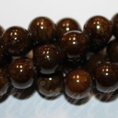 jsmarm0124-apv-06 (x-24) apie 6 mm, apvali forma, ruda spalva, apie 69 vnt.