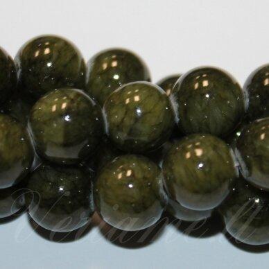 jsmarm0126-apv-12 (yxs-26) apie 12 mm, apvali forma, marga, žalsva spalva, apie 34 vnt