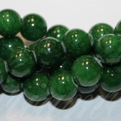 jsmarm0144-apv-06 (WST-33/X-13) apie 6 mm, apvali forma, marga, žalia spalva, apie 69 vnt