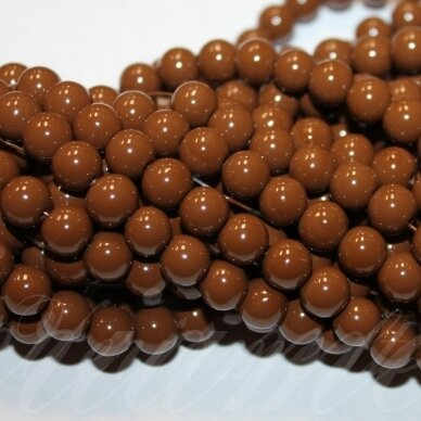 jsstik0103-apv-08 about 8 mm, round shape, brown color, about 100 pcs.