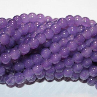 jsstik0105-apv-10 apie 10 mm, apvali forma, šviesi, violetinė spalva, apie 80 vnt.
