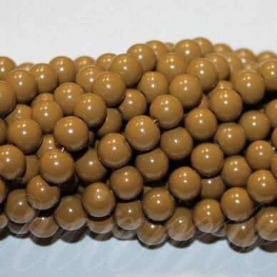 jsstik0110-apv-08 apie 8 mm, apvali forma, ruda spalva, apie 100 vnt.
