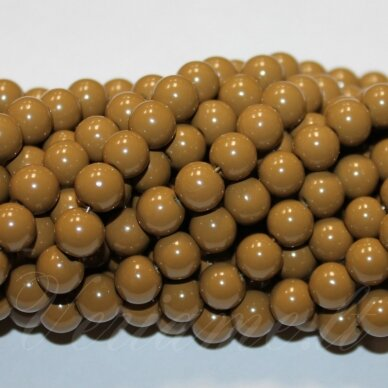 jsstik0110-apv-10 stikliniai karoliukai, apie 10 mm, apvali forma, ruda spalva, stikliniai karoliukai, apie 80 vnt.