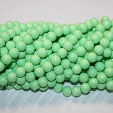 jsstik0111-apv-10 apie 10 mm, apvali forma, šviesi, žalia spalva, apie 80 vnt.