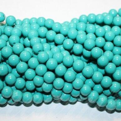 jsstik0112-apv-08 stikliniai karoliukai, apie 8 mm, apvali forma, žalia spalva, stikliniai karoliukai, apie 100 vnt.
