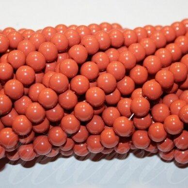 jsstik0115-apv-08 stikliniai karoliukai, apie 8 mm, apvali forma, ruda spalva, stikliniai karoliukai, apie 100 vnt.