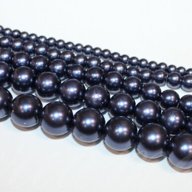 jsstperl0177-10 apie 10 mm, violetinė spalva, stiklinis perliukas, apie 85 vnt.