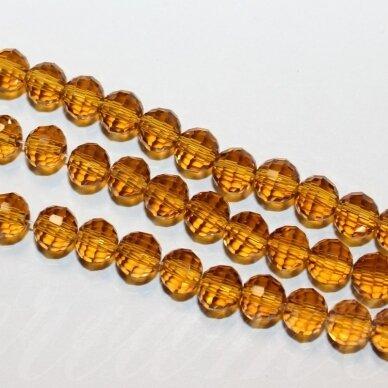 jssw0006gel-apv2-06 apie 6 mm, apvali forma, briaunuotas, skaidrus, ruda spalva, apie 100 vnt.