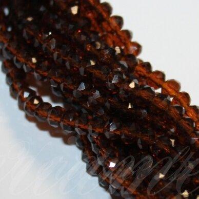 jssw0007gel-ron-09x12 apie 9 x 12 mm, rondelės forma, briaunuotas, skaidrus, tamsi, ruda spalva, apie 72 vnt.