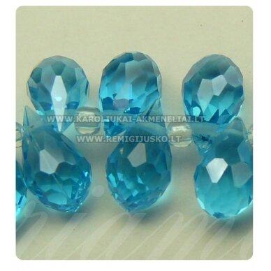 jssw0009gel-las-14x8 apie 14 x 8 mm, lašo forma, briaunuotas, mėlyna spalva, apie 100 vnt.