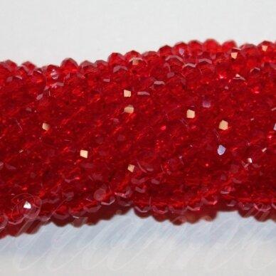 jssw0012gel-ron-02x3 apie 2 x 3 mm, rondelės forma, skaidrus, raudona spalva, apie 200 vnt.