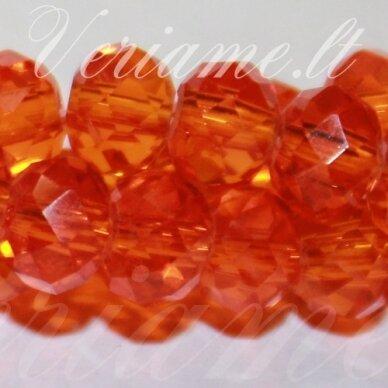jssw0015gel-ron-04x6 apie 4 x 6 mm, rondelės forma, oranžinė spalva, stikliniai / kristalo karoliukai, apie 100 vnt.