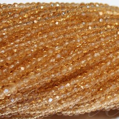 jssw0015n-ron-02x3 apie 2 x 3 mm, rondelės forma, šviesi, ruda spalva, apie 200 vnt.