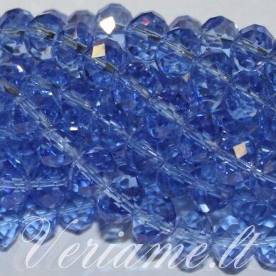 jssw0016gel-ron-02x3 apie 2 x 3 mm, rondelės forma, skaidrus, mėlyna spalva, stikliniai / kristalo karoliukai, apie 200 vnt.