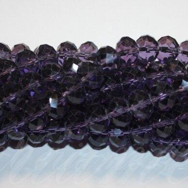 jssw0020k-ron-09x12 apie 9x12 mm, rondelės forma, briaunuotas, šviesi, violetinė spalva, apie 70 vnt.