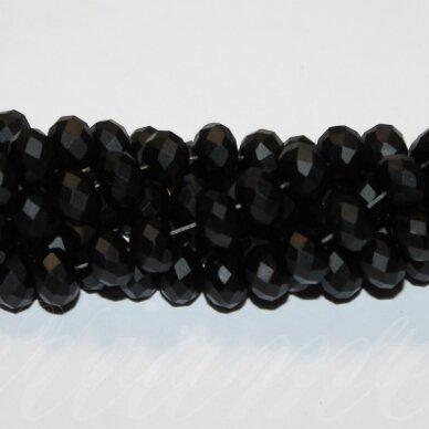 jssw0161gel-ron-09x12 about 9 x 12 mm, rondelle shape, matte, black color, about 72 pcs.
