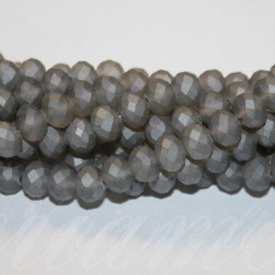 jssw0178gel-ron-08x10 apie 8 x 10 mm, rondelės forma, matinė, pilka spalva, apie 72 vnt. / x 5 juostos