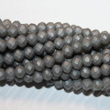 jssw0224gel-ron-08x10 apie 8 x 10 mm, rondelės forma, matinė, pilka spalva, apie 72 vnt.