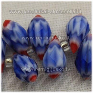 jssw1004-las-12x6 apie 12 x 6 mm, lašo forma, mėlyna spalva, marga, apie 100 vnt.