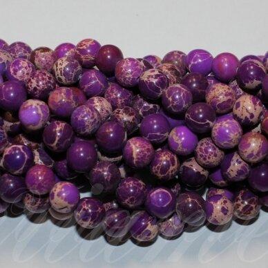 jsvar10-apv-10 apie 10 mm, apvali forma, marga, violetinė spalva, variscitas, apie 38 vnt.