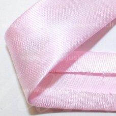 JT0007 apie 18 mm, šviesi, rožinė spalva, atlasinė juostelė, 1 m.