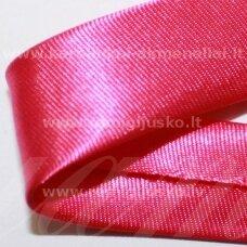 JT0008 apie 18 mm, rožinė spalva, atlasinė juostelė, 1 m.