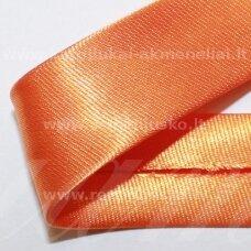 JT0014 apie 18 mm, oranžinė spalva, atlasinė juostelė, 1 m.