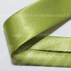 JT0017 apie 18 mm, žalia spalva, atlasinė juostelė, 1 m.