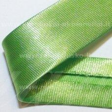 JT0026 apie 18 mm, žalia spalva, atlasinė juostelė, 1 m.