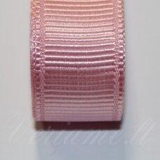 jts0018 apie 20 mm, šviesi, rožinė spalva, satino juostelė, 10 m.