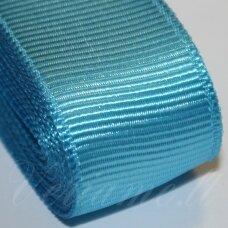 jts0067 apie 20 mm, žydra spalva, satino juostelė, 10 m.
