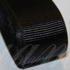jts0110 apie 20 mm, juoda spalva, satino juostelė, 10 m.
