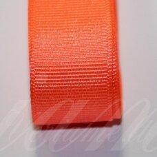 jts20/0001 apie 20 mm, ryški, oranžinė spalva, satino juostelė, 10 m.
