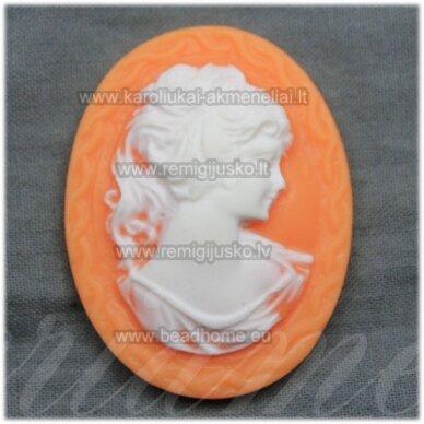 k13 apie 42 x 32 x 8.5 mm, balta spalva, oranžinė spalva, kamėja, 1 vnt.