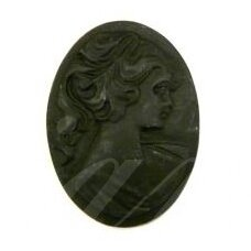 k20 about 40 x 30 mm, black color, cameo, 1 pc.