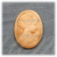 k78 about 24.5 x 18 x 5 mm, orange color, cameo, 1 pc.