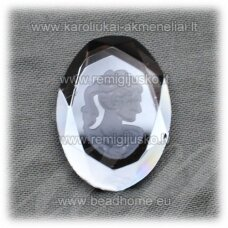 k87 about 25 x 18 x 5 mm, smoky blue color, cameo, 1 pc.