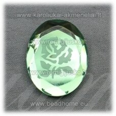 k90 about 27.5 x 22 x 5 mm, green color, cameo, 1 pc.