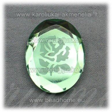 k90 apie 27.5 x 22 x 5 mm, žalia spalva, kamėja, 1 vnt.